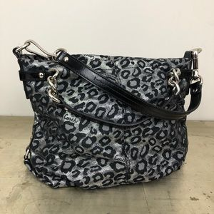 Coach Ocelot Leopard Brooke Shoulder Bag F17577
